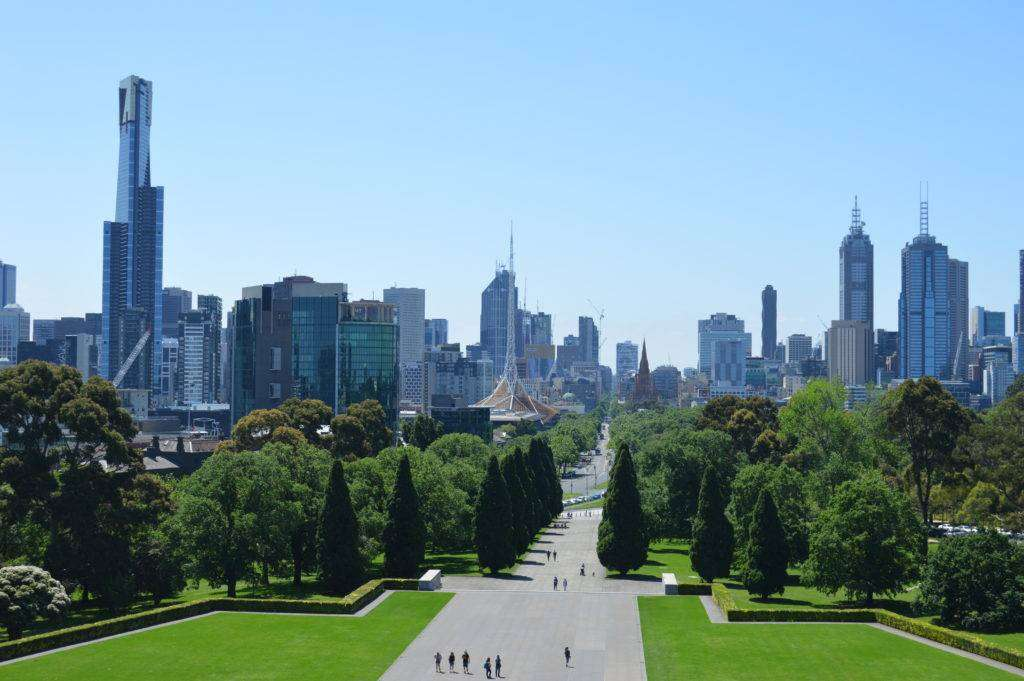 melbourne from shrine of remembrance